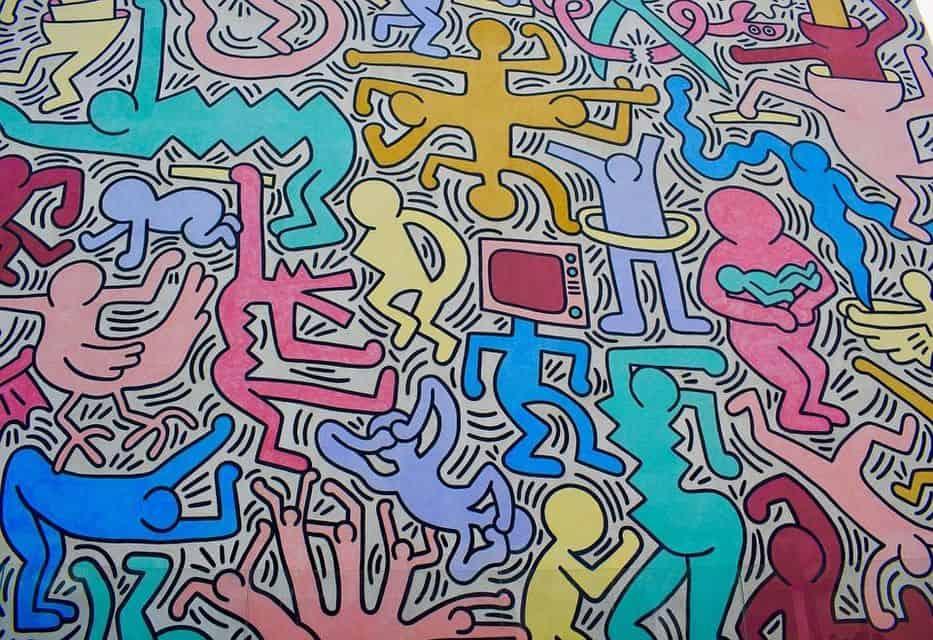 graffito dipinto spray Keith Haring mostre d'arte