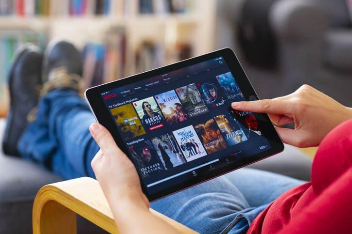 Series en una tablet